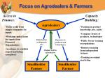 focus on agrodealers farmers