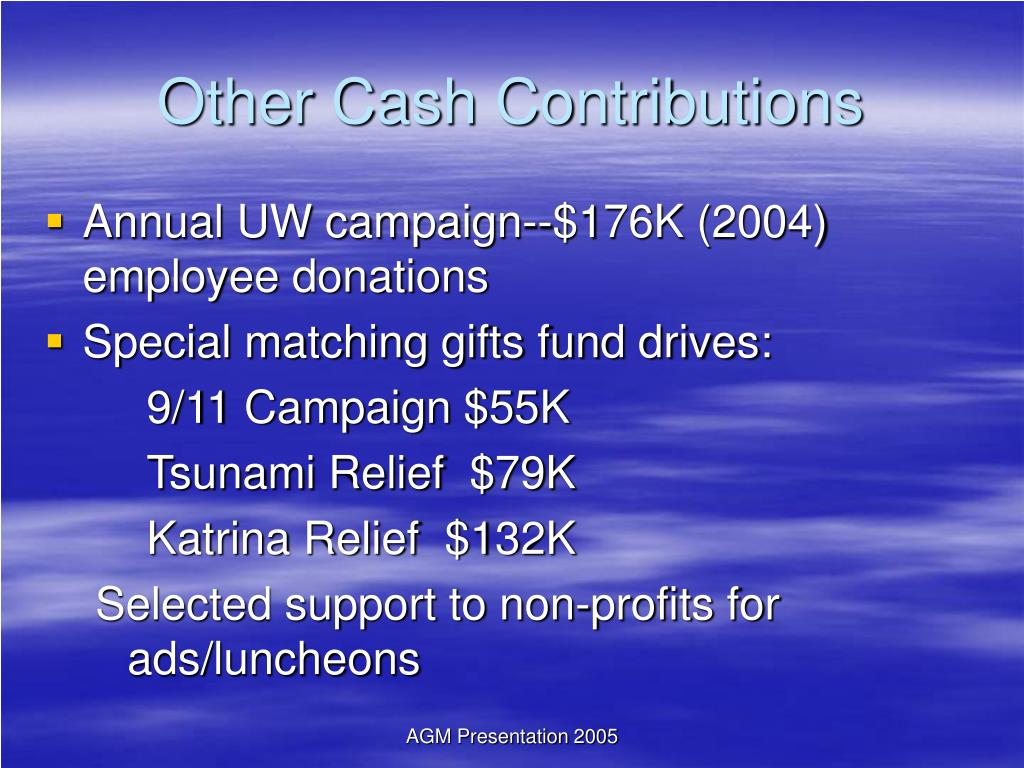 Other Cash Contributions