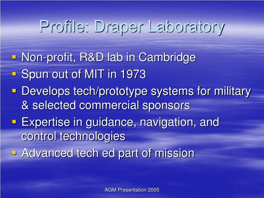 Profile: Draper Laboratory