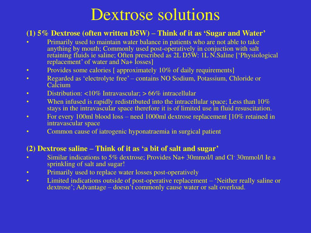 Dextrose solutions