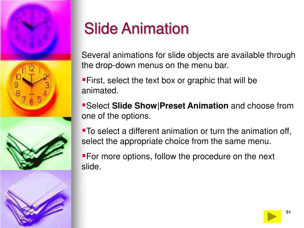 Slide Animation