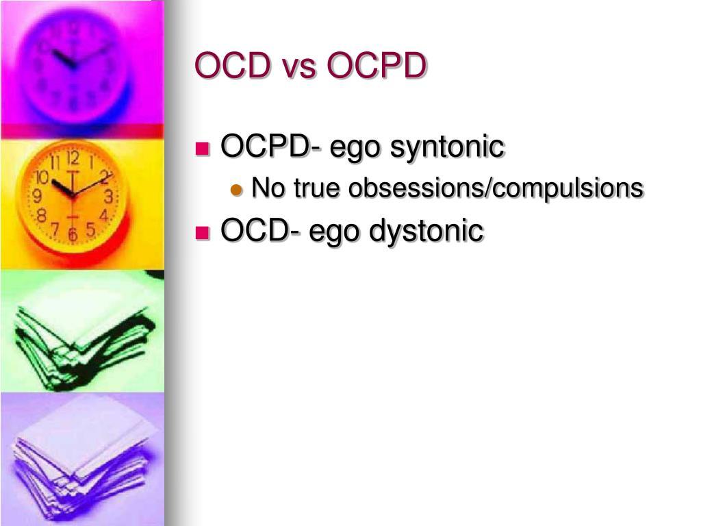 OCD vs OCPD