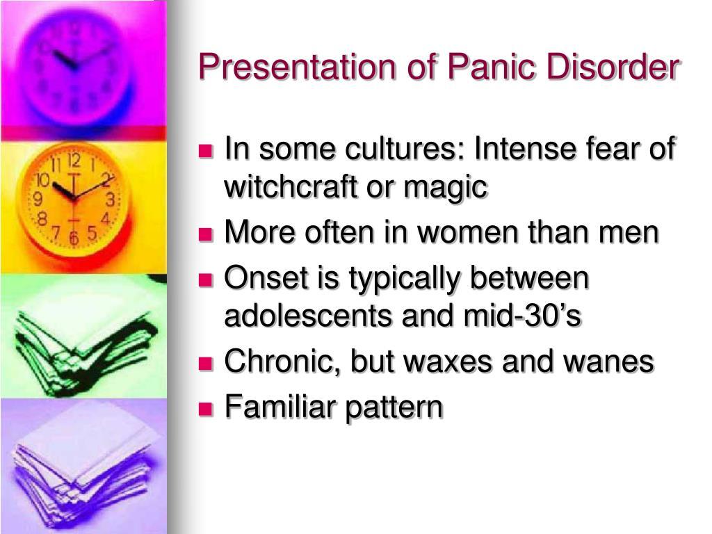 Presentation of Panic Disorder