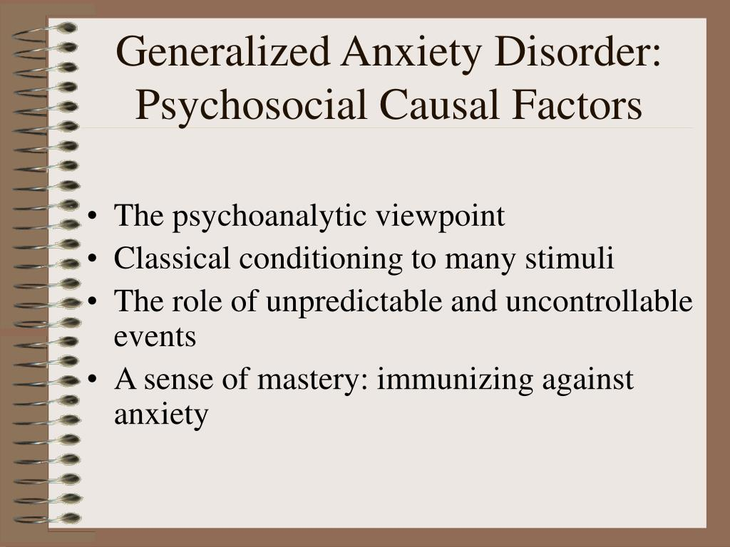Generalized Anxiety Disorder: