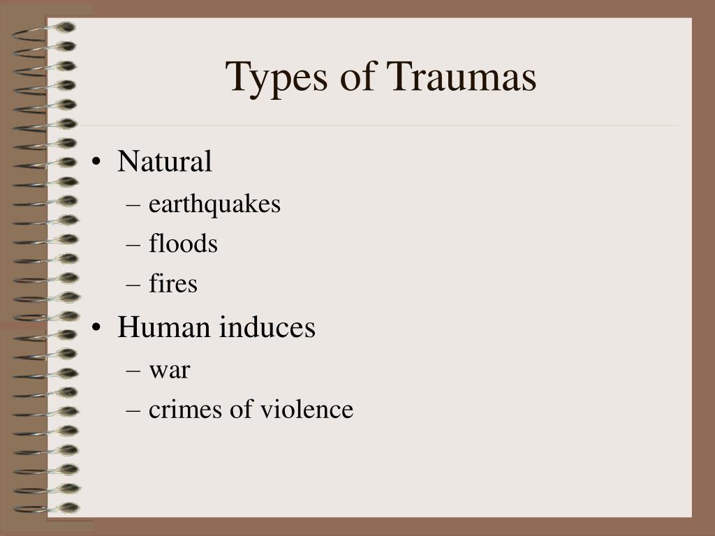 Types of Traumas