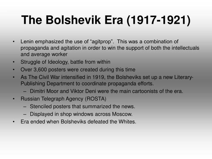 The bolshevik era 1917 1921