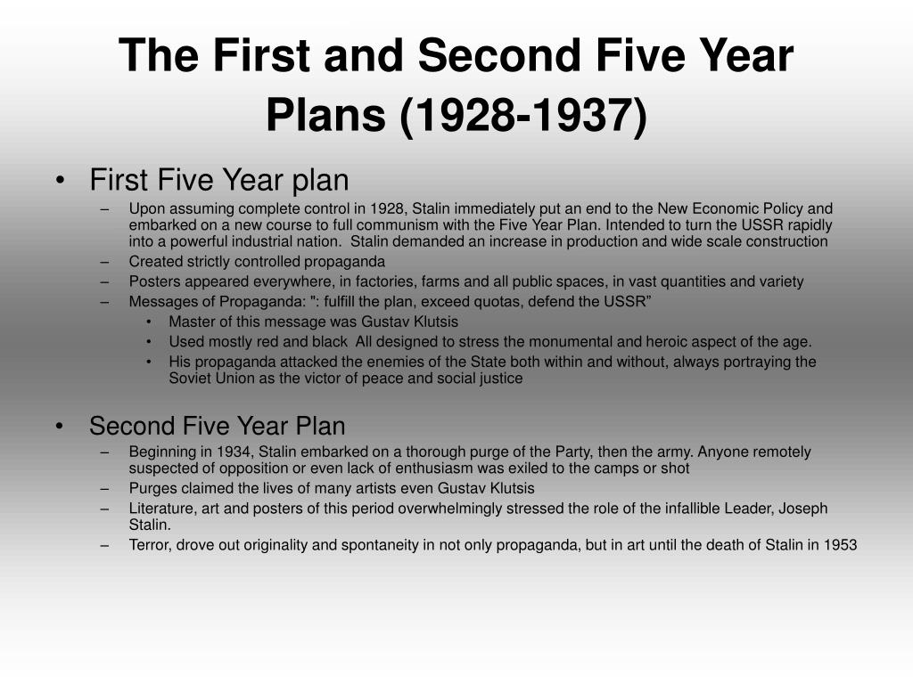 The First and Second Five Year Plans (1928-1937)