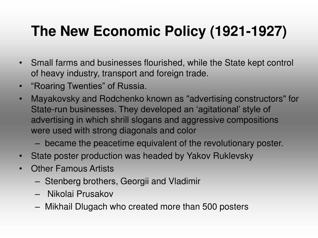 The New Economic Policy (1921-1927)