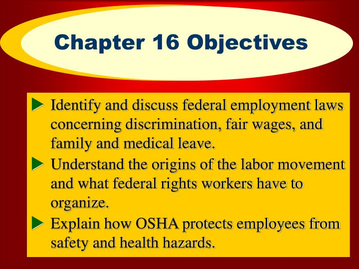 Chapter 16 objectives l.jpg