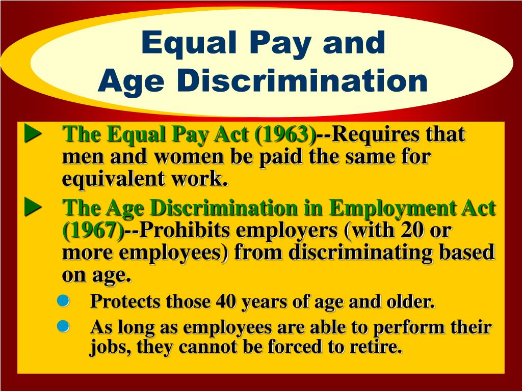 Equal Pay and