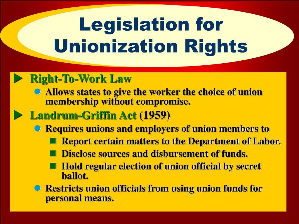 Legislation for Unionization Rights