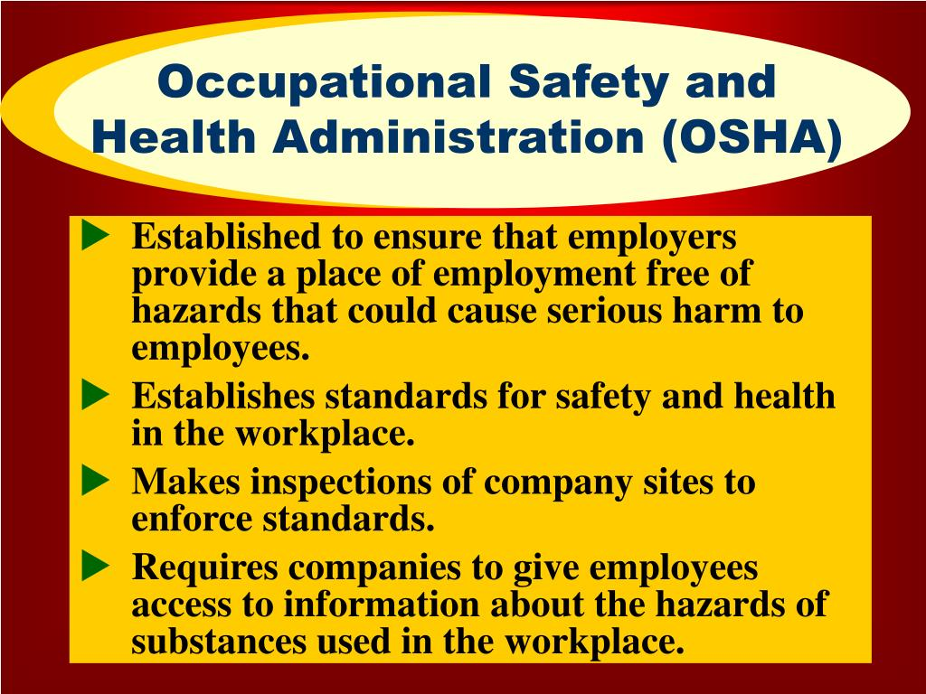 Occupational Safety and