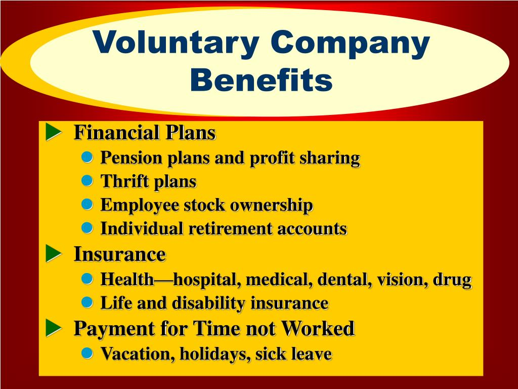 Voluntary Company Benefits
