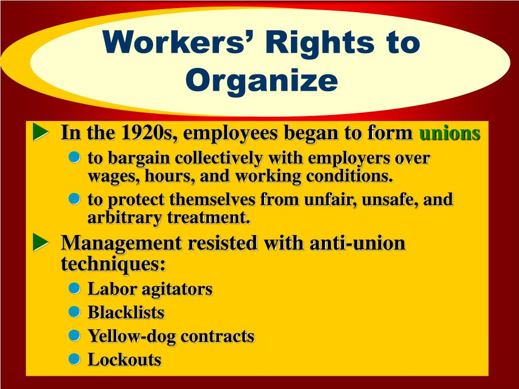 Workers' Rights to Organize