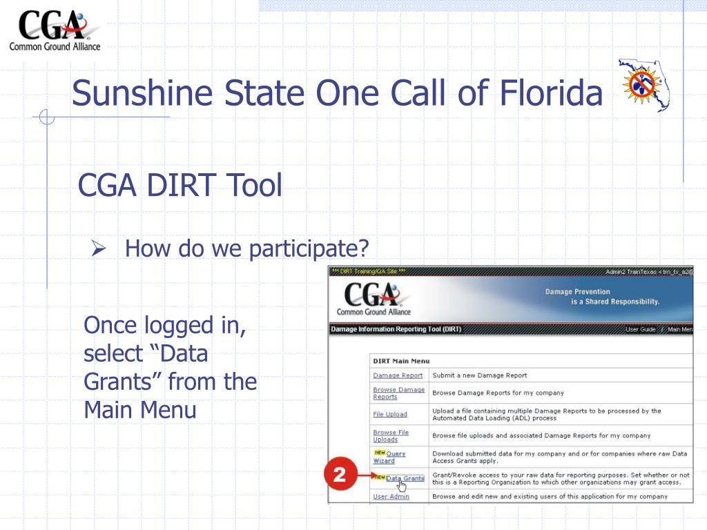 CGA DIRT Tool