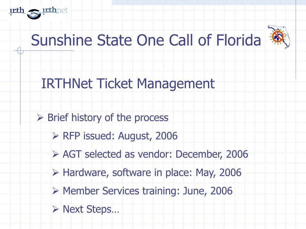 IRTHNet Ticket Management