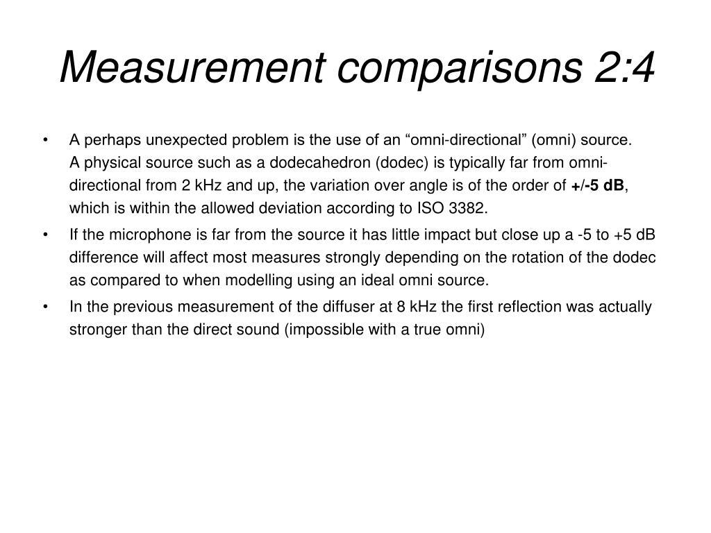 Measurement comparisons 2:4