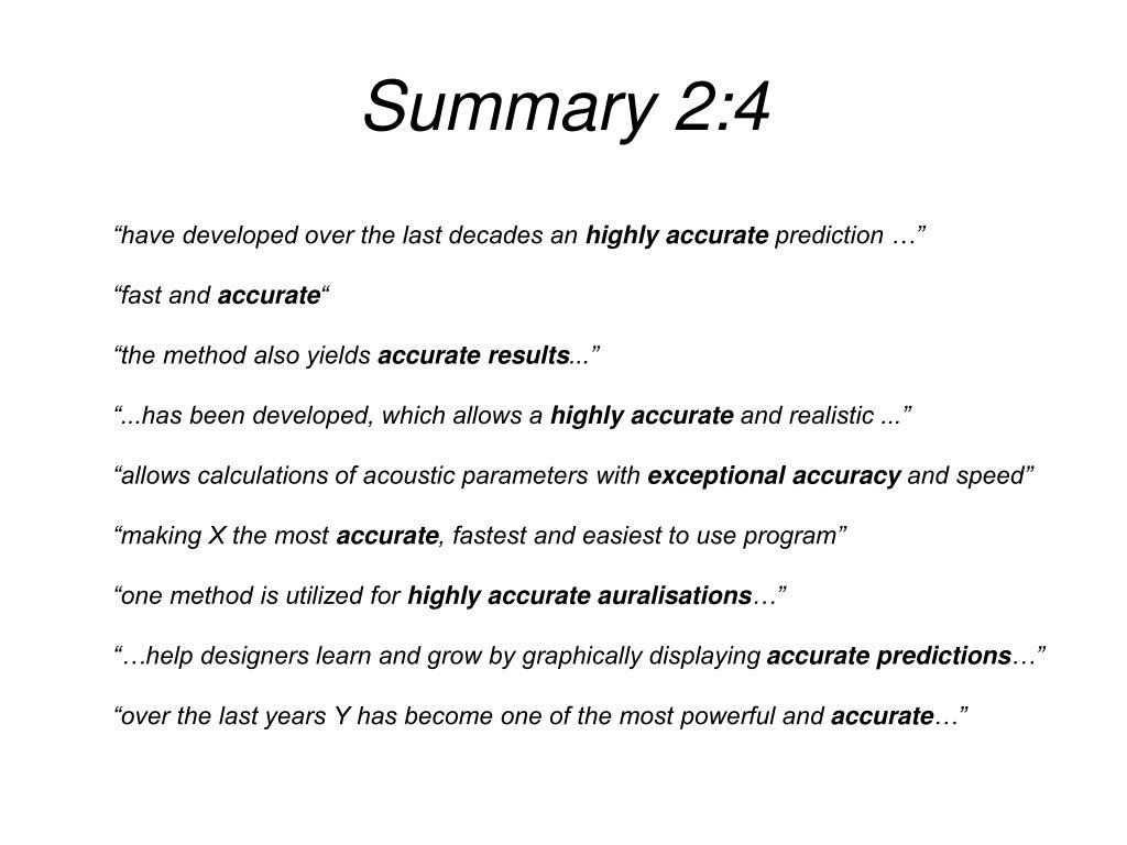 Summary 2:4