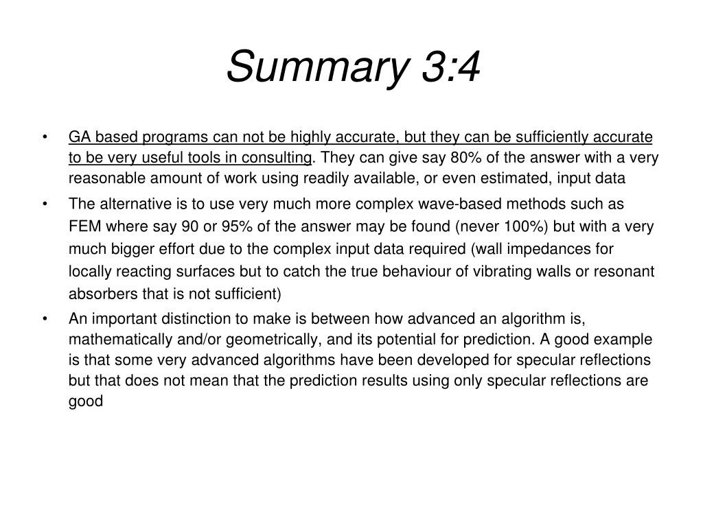 Summary 3:4