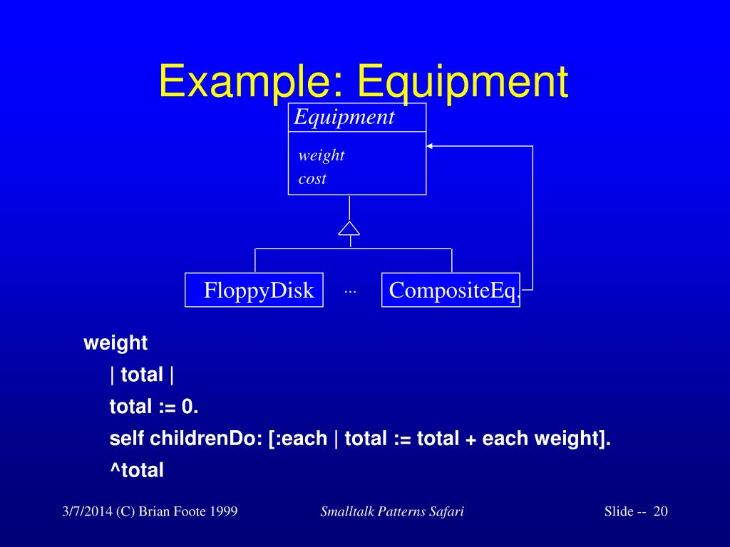 Example: Equipment