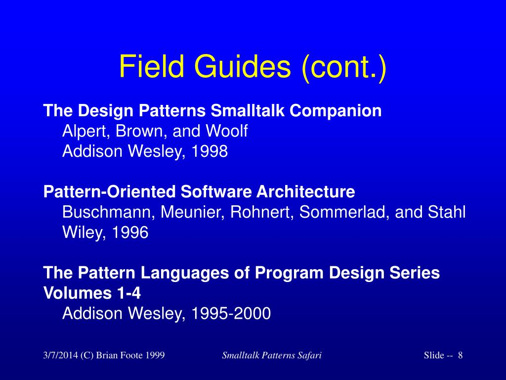 Field Guides (cont.)
