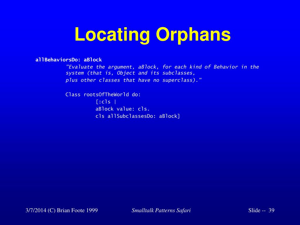 Locating Orphans