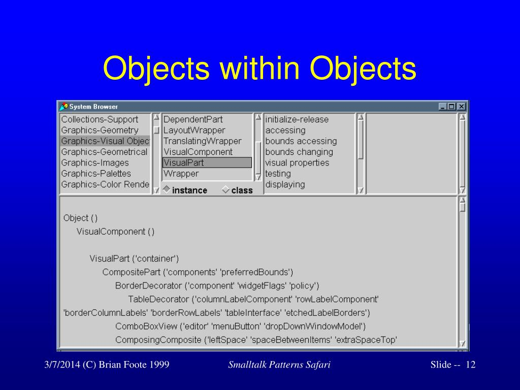 Objects within Objects