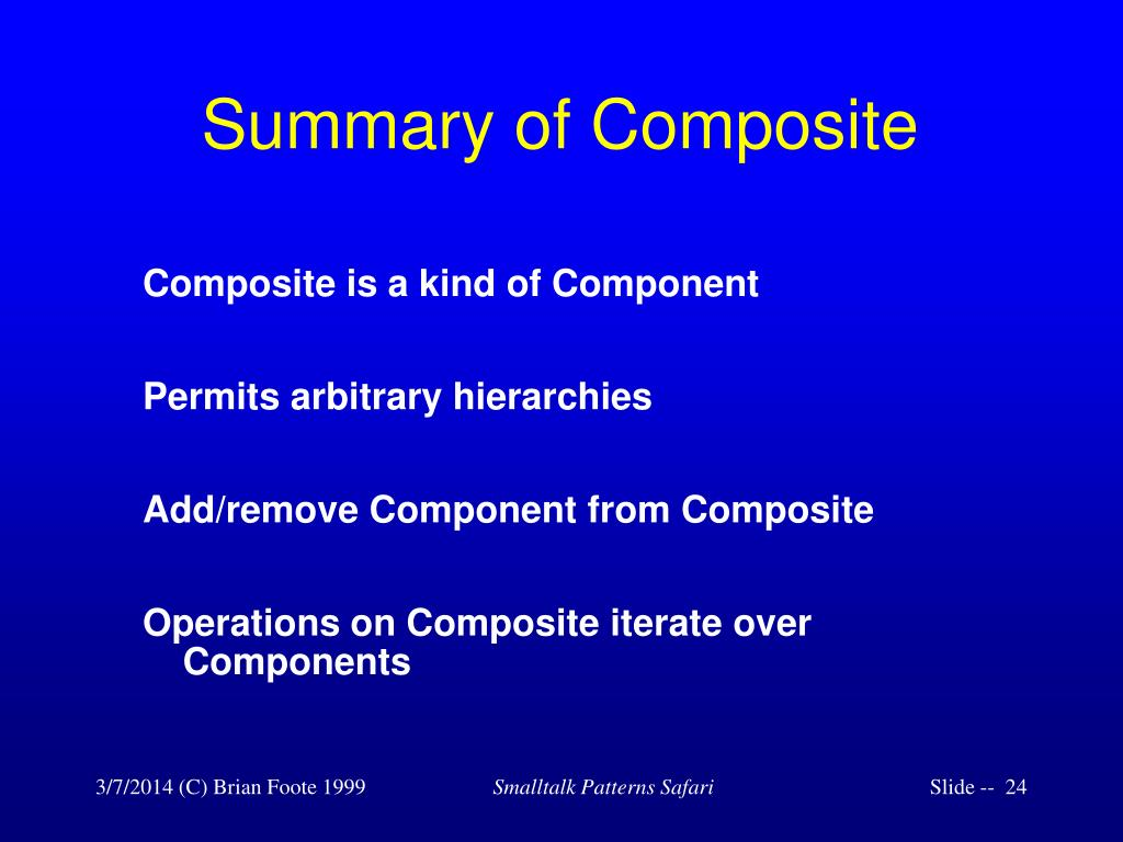 Summary of Composite