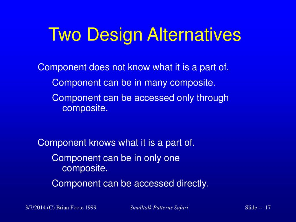 Two Design Alternatives