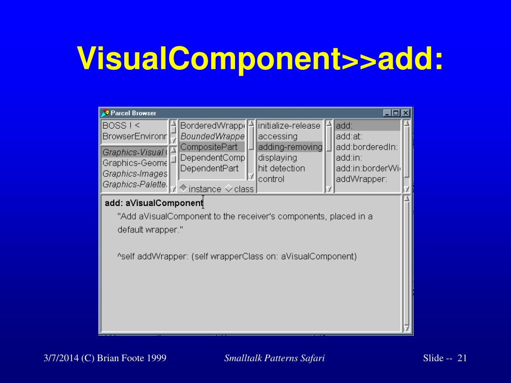 VisualComponent>>add: