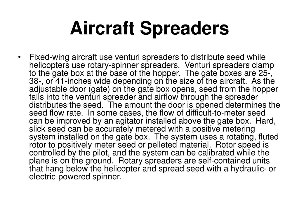 Aircraft Spreaders