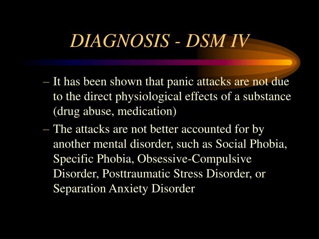 DIAGNOSIS - DSM IV