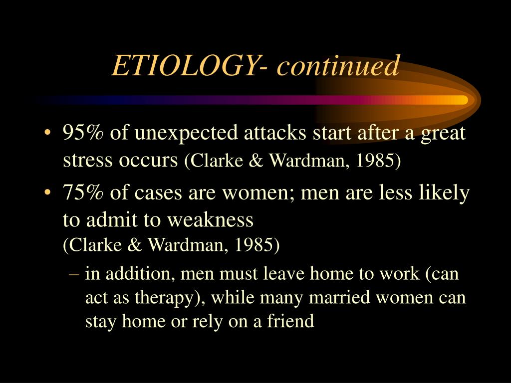ETIOLOGY- continued