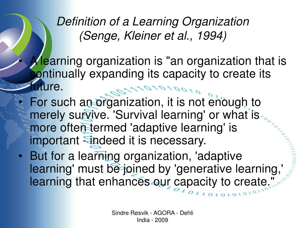 Definition of a Learning Organization