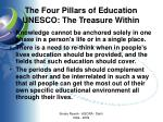 the four pillars of education unesco the treasure within