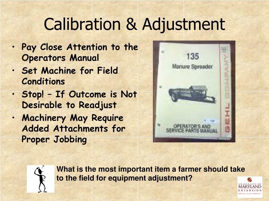 Calibration & Adjustment