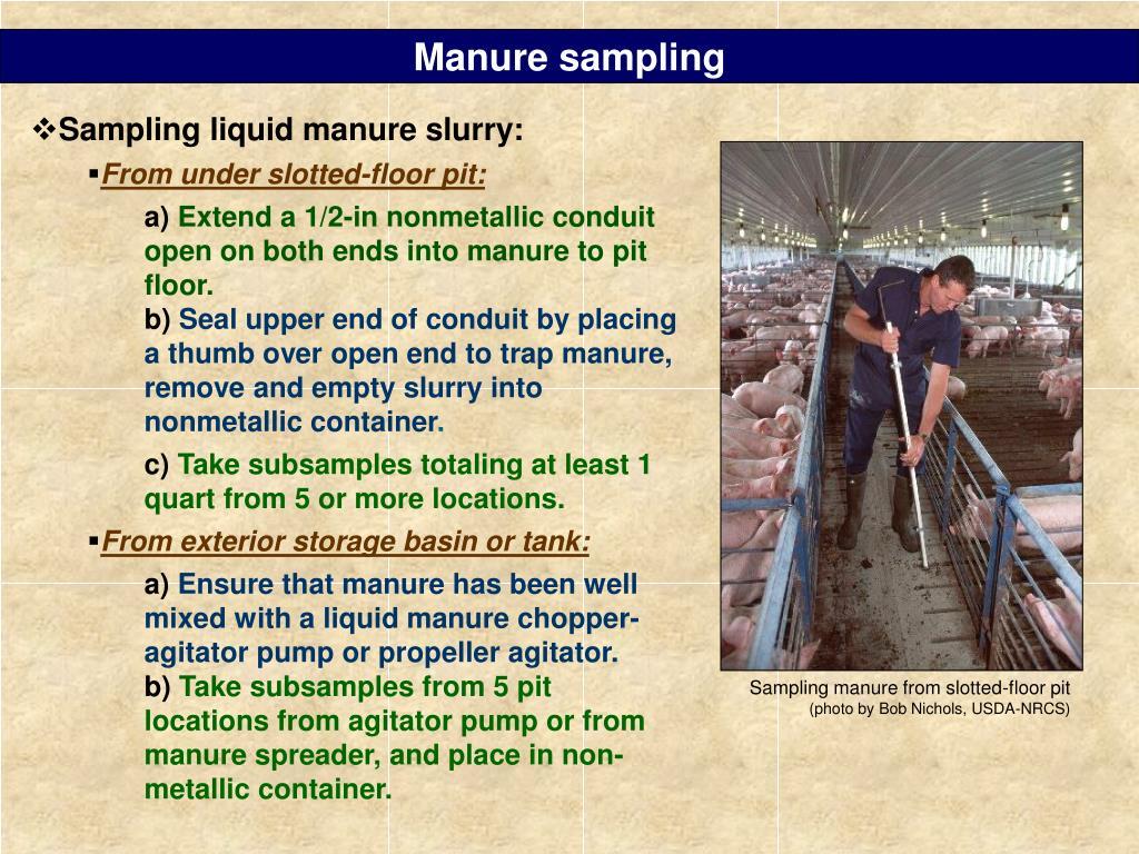 Manure sampling