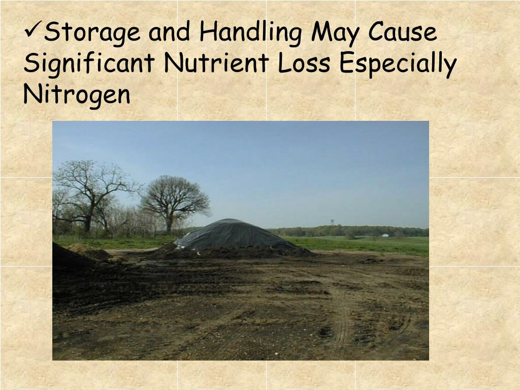 Storage and Handling May Cause Significant Nutrient Loss Especially Nitrogen