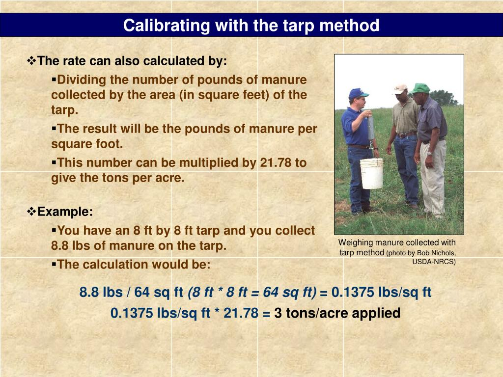 Calibrating with the tarp method