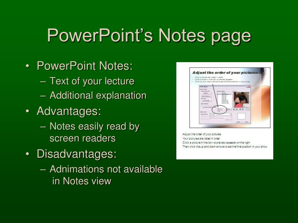 PowerPoint's Notes page