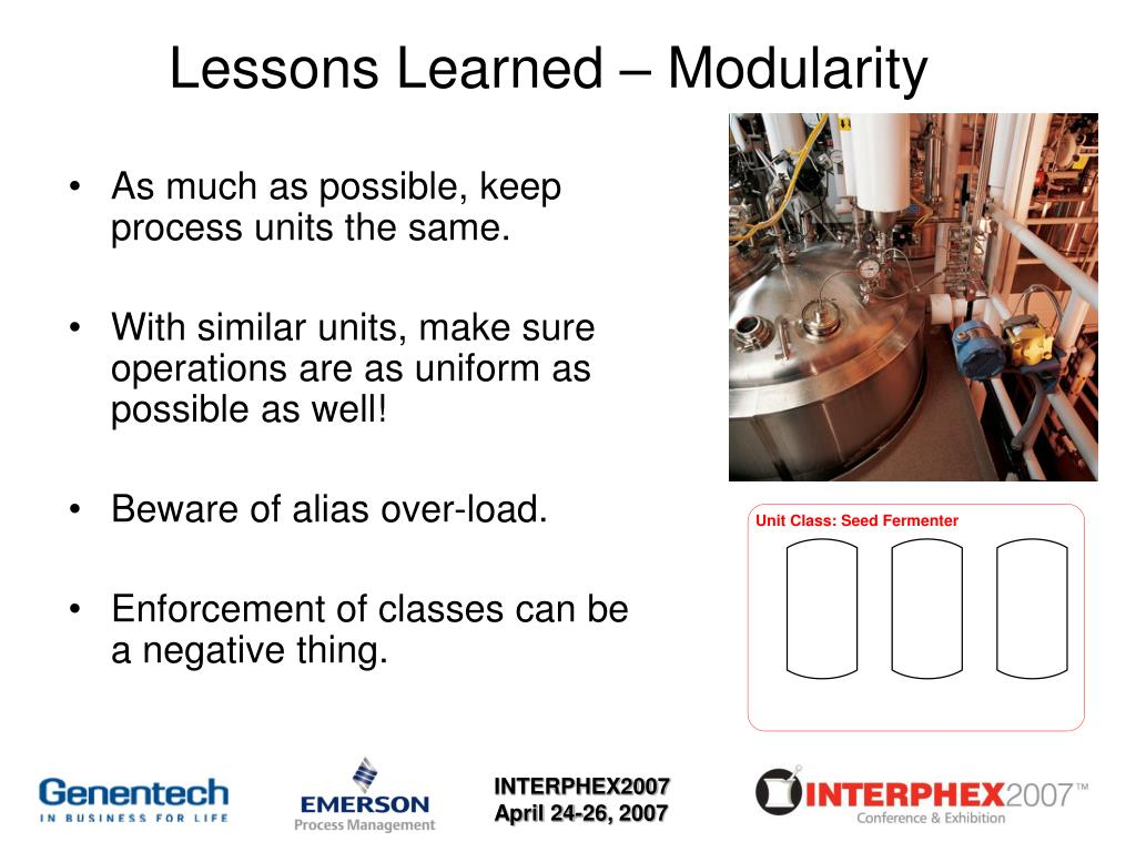 Lessons Learned – Modularity