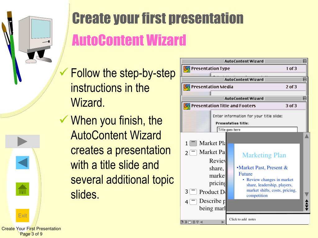 Follow the step-by-step instructions in the Wizard.