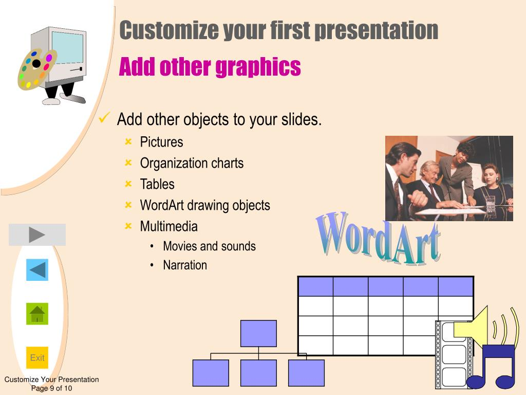Customize your first presentation