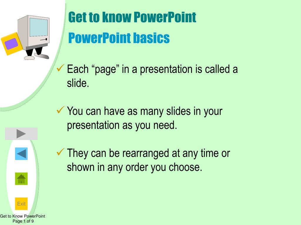 Get to know PowerPoint
