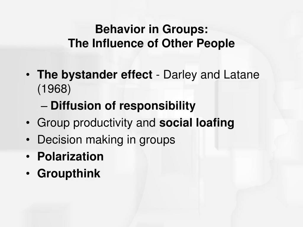 Behavior in Groups: