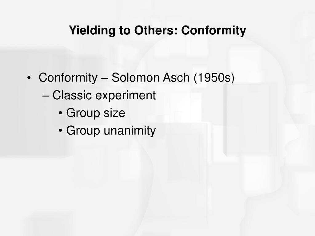Yielding to Others: Conformity