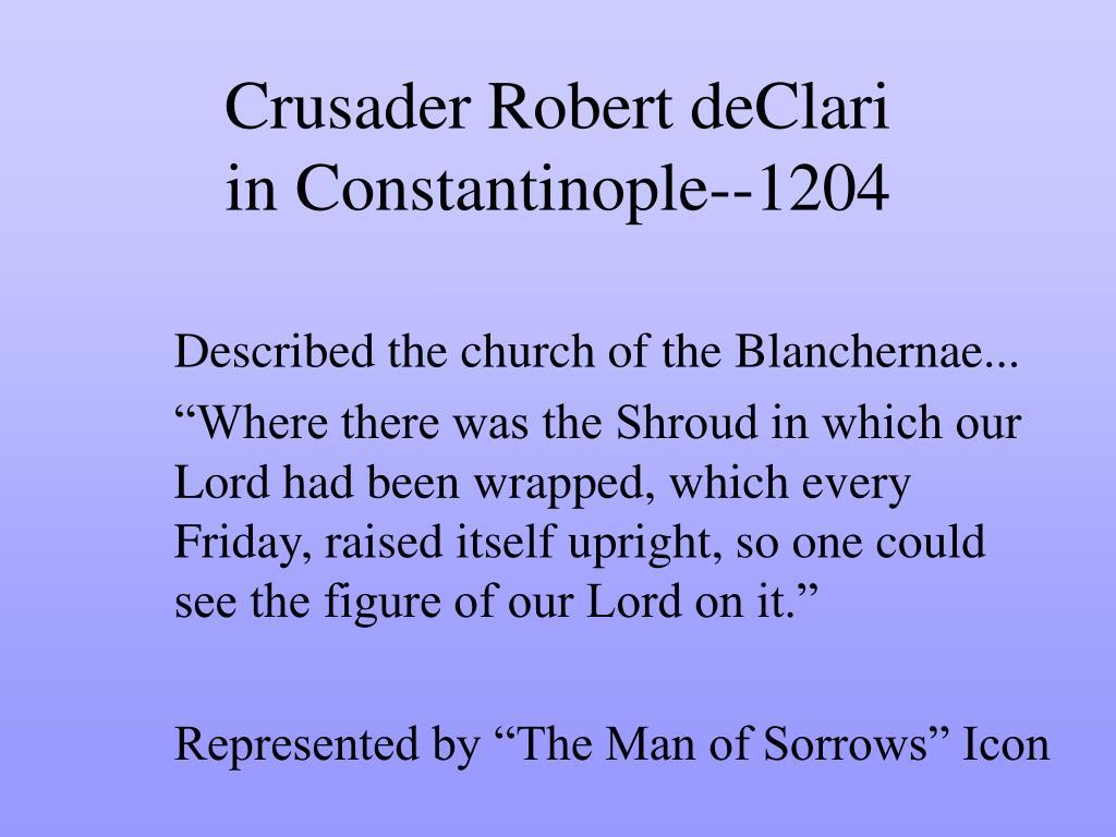 Crusader Robert deClari