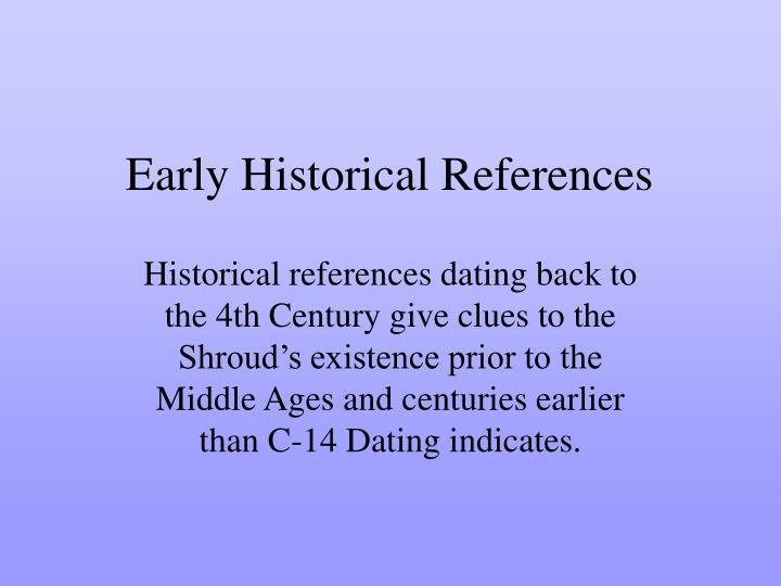 Early historical references l.jpg