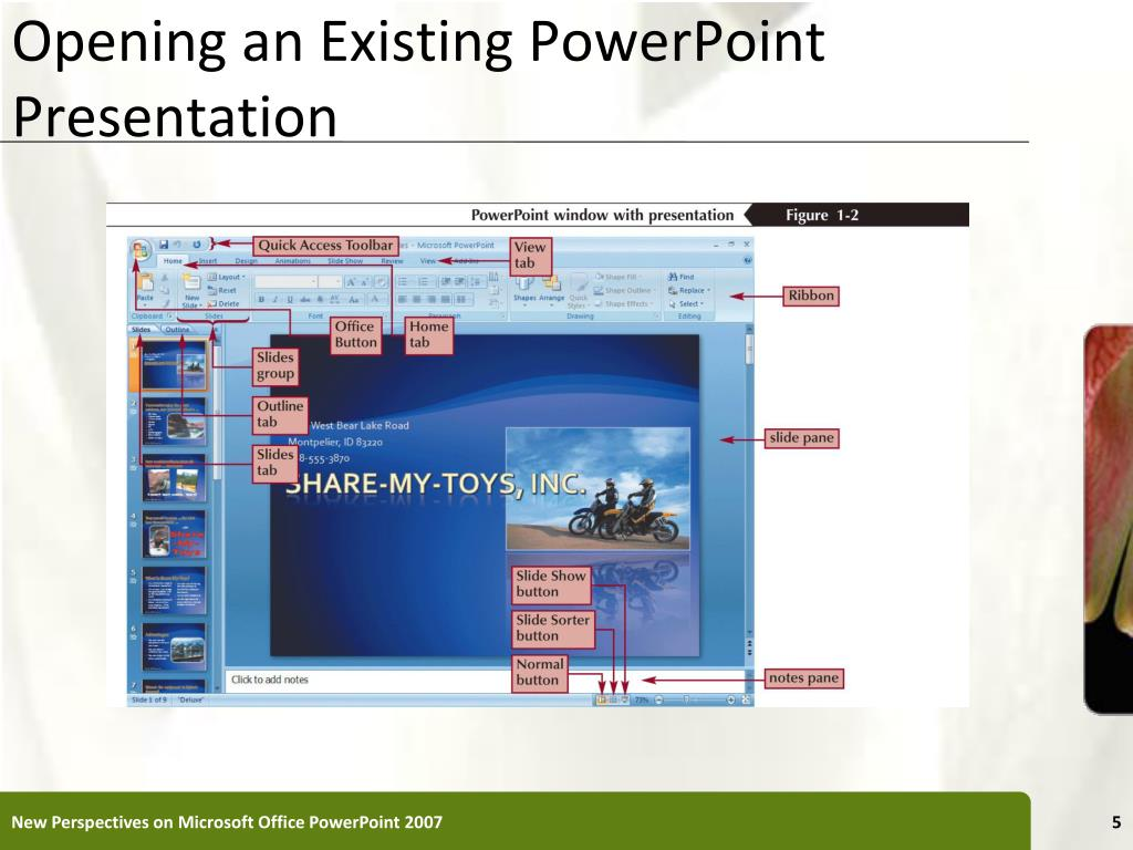 Opening an Existing PowerPoint Presentation