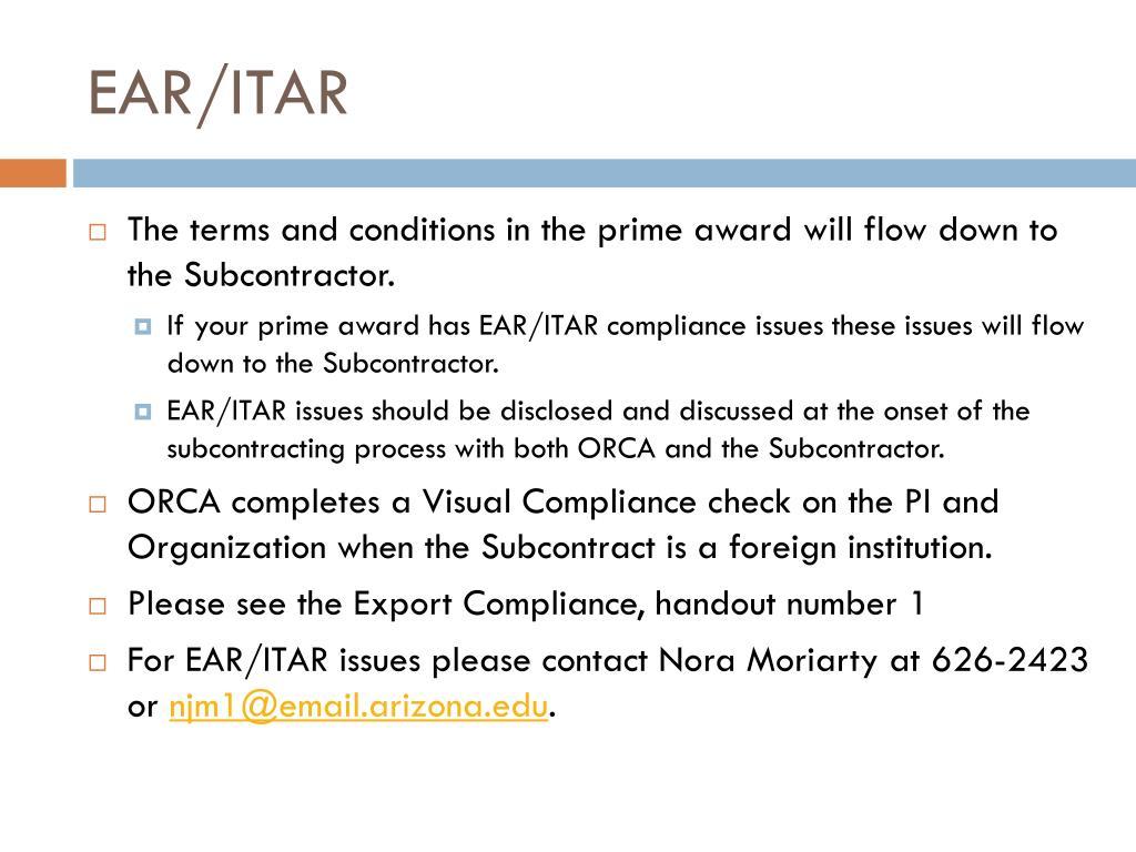 EAR/ITAR